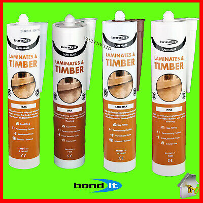 Laminate floor Silicone Bond it Filler for Timber floor Oak Dark Oak pine Teak