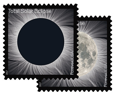 Total Eclipse Of The Sun Solar Moon Forever Stamp (one piece), MNH