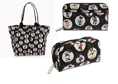 [NWT] LeSportSac Minnie Mouse Tote, Wallet & Cosmetic Bag