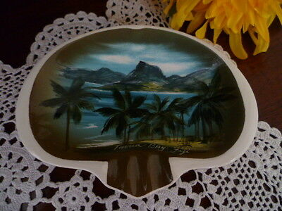 Rare Studio Anna Fiji Ashtray Hand Decorated  Ceramic Australian Studio Pottery