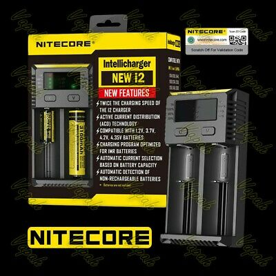 Nitecore NEW i2 Dual Channel Universal Battery Charger/21700 20700 26650 18650