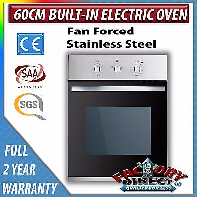 New ADELCHI 60cm Stainless Steel Fan Forced Electric Wall Oven with 8 Functions