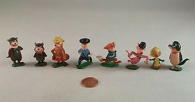 Marx Tinykins Yogi Bear Lot of Hanna-Barbera Figures Hand Painted - 1961