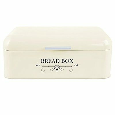 MVPOWER Bread Box Bread BinStorage Container Powder Coated Stainless Steel E...