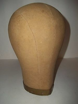 Vintage Millinery Cloth Canvas Mannequin Head Blocks Hat Wig Stand Makers Form