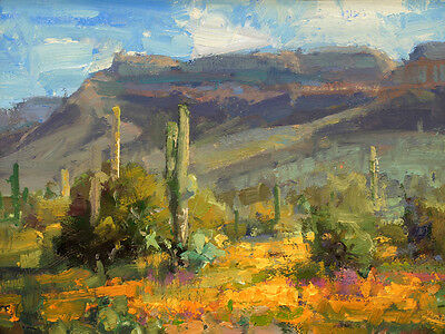 Home deco Wall art Western Landscapes Cactus Oil painting Picture on canvas L312