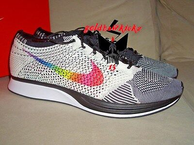 122cf025a3ca Nike Flyknit Racer Betrue 902366-100 Be True White Multicolor MC pride  rainbow