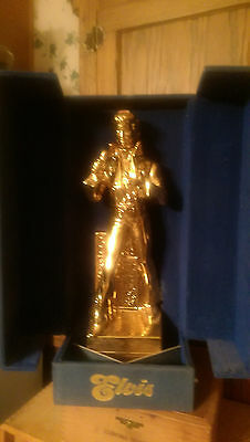 Vintage Gold Elvis  Mccormick Whiskey Decanter Music Box Unopened In Box