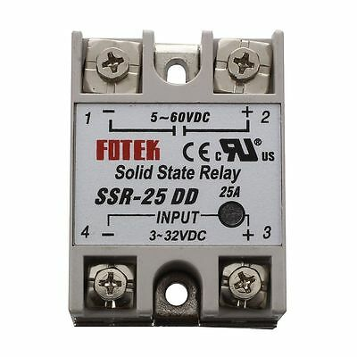 SSR-25DD Single Phase Solid State Module Relay 25A DC 5-60V K3D2