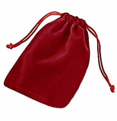 """Pack Of 25 Red 5.5"""" X 4"""" Pouches - Elegant Velvet Drawstring Jewelry Bags"""