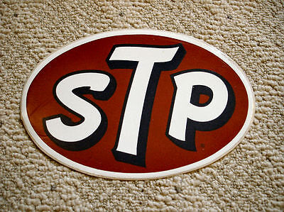 Vintage STP Large Oval Sticker - 1970's