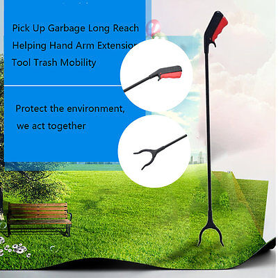 Pick Up Garbage Long Reach Helping Hand Arm Extension Tool Trash Mobility QG