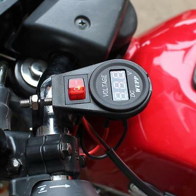 Moto impermeabile LED rosso LED display a voltmetro 12V DC interruttore