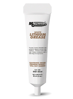 MG Chemicals Lithium Grease, 85 ml Tube, White