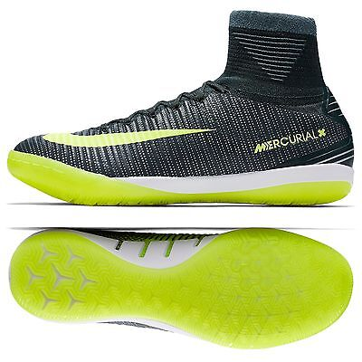 9ad09f984 Nike MercurialX Proximo II CR7 IC 852538-376 Seaweed Volt Indoor Soccer  Shoes