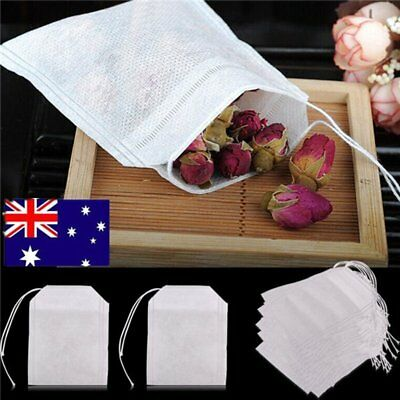 100/200x Empty Teabags String Heat Seal Filter Paper Herb Loose Tea Bags QG