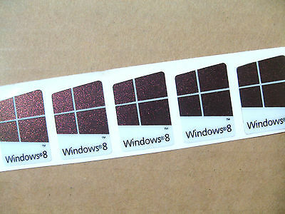 5 Pcs of  Windows 8 Stickers, Badge, Logo, Decal 16mm x 22mm