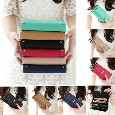 Large Capacity Purse Clutch Wallet Car Holder Case Coin Set PU Leather Womens