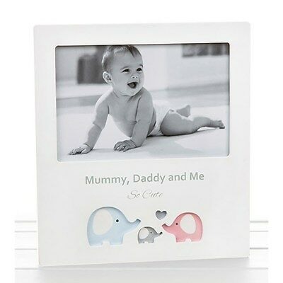 NEW Cut Out Mummy Daddy & Me Photo Frame Baby Shower Christening 53764