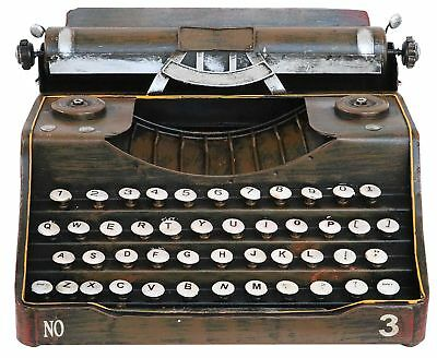 Typewriter decorative without function 32cm metal antique style