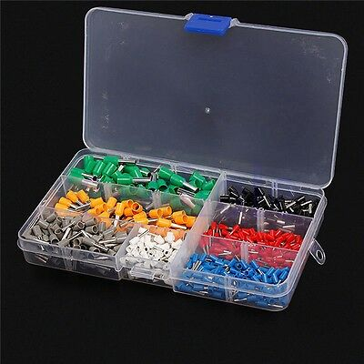 600Pcs Isolierte Cord Terminal Crimp Cooper Ferrules Wire Connector Kit AWG DL