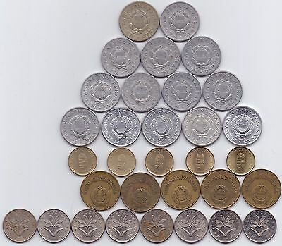 32 Coins- Hungary 2 Forint & 1 Forint (1967-2007)