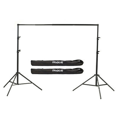 PhotR 2.4x2m Studio Backdrop Background Support System Stand Telescopic Crossbar