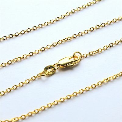 "mens long chain gold filled oval links 16ins 18"" 20"" 22"" 24"" 26"" 28"" 30"" womens"