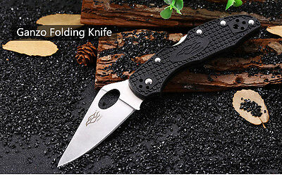 Ganzo Firebird F759M - BK Back Lock Folding Knife with 440C Stainless Steel Blad