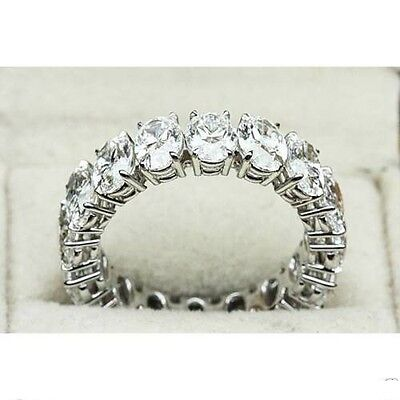7.50Ct White Oval Cut Diamond Vintage Collection Womens 14K Gold Band Ring