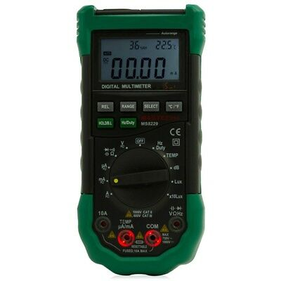 MS8229 Auto-Range 5-in-1 Digital Multimeter 4000 Counts Temperature HumidityTest