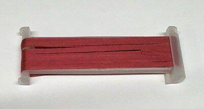 YLI Silk Ribbon 4mm x 3m - Shade 114 - Deep Coral Rose