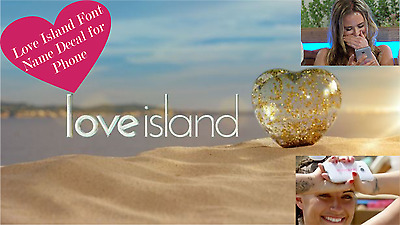 Love Island Font Name Decal For Mobile Phone