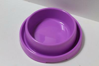 Large Dog puppy cat kitten pet ant free food bowl dish DHY-014L PURPLE