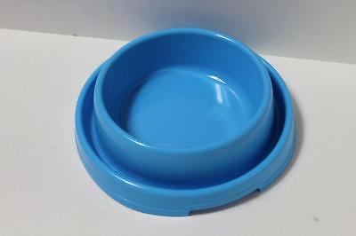 Large Dog puppy cat kitten pet ant free food bowl dish DHY-014L BLUE