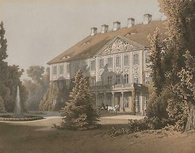 UHYST (Boxberg OL.) - Schloss - Duncker - Farblithographie 1880