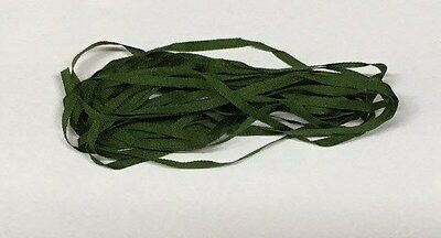 YLI Silk Ribbon 2mm x 3m - Shade 021 - Dark Leaf Green