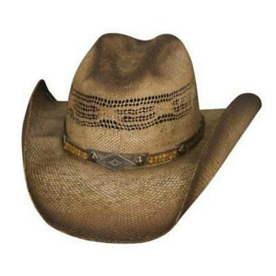 d6e8ca6f180 Bullhide Natural Brown Cream Straw Cowboy Hat Sun is Shining with Leather  Band and Under Brim Trim