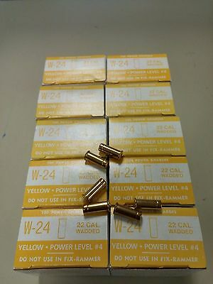 Fixrammer Yellow 22 Cal, High Velocity Wadded Loads (10 Boxes Of 100)