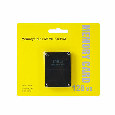 1New Au 128Mb Memory Card For Playstation2 Ps2 128M