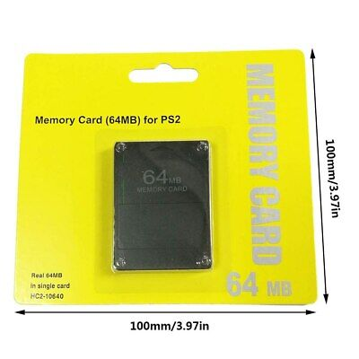 New Au 64 Mb Memory Card For Playstation2 Ps2 64M 64Mb