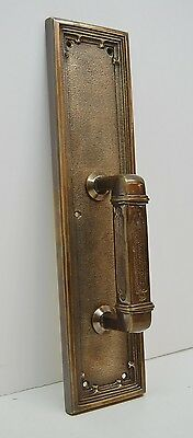 SOLID BRASS CHURCH DOOR PULL PLATE - BRONZE FINISH (push plate also available)