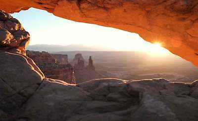 WALL MURAL PHOTO WALLPAPER XXL Cave Cove Sunrise View From Inside (JD-1289WS)