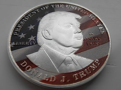 U.S.A Political President Donald Trump Silver Plated Collectable Coin Medal