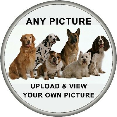 Personalised Spare Wheel Sticker YOUR OWN PHOTO Design Fit Semi Rigid Covers