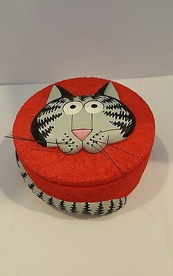 RARE B Kliban Cat Trinket Container with Lid