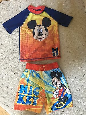 Disney Mickey Mouse Boys Surf Swim Trunks Set - Size 2T - Used - Good Condition!
