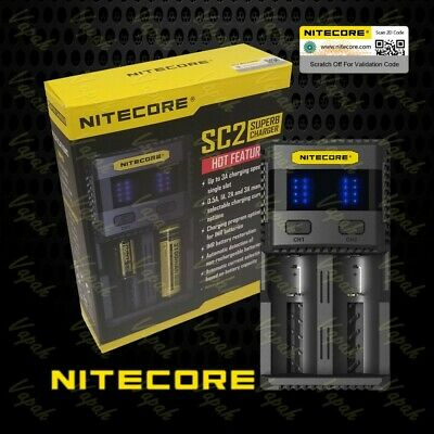 Nitecore SC2 5A MAX Quick Universal i 2 Channel Battery Charger | USB Output