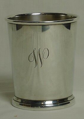 Sterling Silver Mint Julep Glass, engraved with W