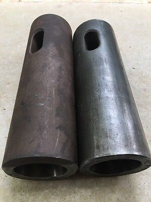 """(2) 5MT Morse Taper 5 To 2 1/2"""" Straight Shank Adapter Tool Drill Sleeve"""